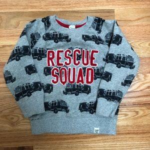 Fire truck sweatshirt